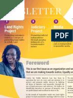 Centre for Public Interest Law (CEPIL) Newsletter