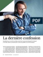 Michel Houellebecq La Dernière Confession Valeurs Actuelles 2017 11 23