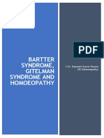 Bartter Syndrome, Gitelman Syndrome and Homoeopathy