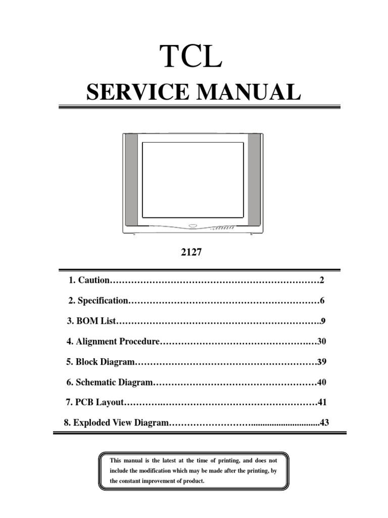 tcl service manual rh scribd com Customer Service Books Manual Book