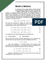 Muller's method & Graeffe's Root Squaring Method