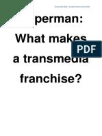 Transmedia Essay