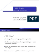 Gdb Tutorial Handout