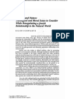 Udaism and Nature- Theological and Moral Issues to Consider While Renegotiating a Jewish Relationship to the Natural World