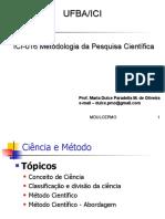 Aula 3 Icia16 Conceito e Classificaçao Ciencia Abordagens Indutivo Dedutivo Etc
