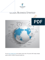 Sample on Importance of Global Business Strategy for an Organization