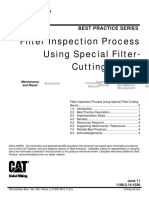 BP Oil Filter Cutting Bench