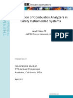 Combustion Analyzer Sands Is