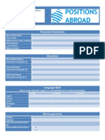 Cv Table Template Pa