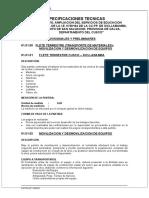Espec. Tecnicas Estructuras San Salvador