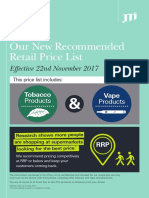 JTI Recommended Price List Effective 22ndNovember2017