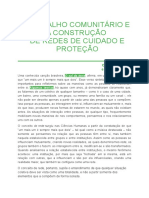 O Trabalho Comunitário e a Construção de Redes de Cuidado e Proteção