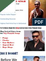 Yo Yo Honey Singh Famous Raps from Punjabi Songs