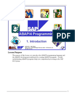 1. Abap Introduction