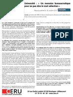 Sélection - Tribune du Pr. Morgane Daury-Fauveau