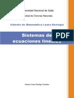 TEORIA 09 Sistemas de Ecuaciones Lineales