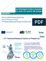 Presentación VTT - Experiences of European Technological Centers in Innovation in Energy
