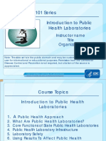 Introduction to Public Health Laboratories