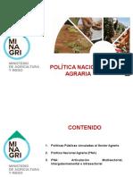 10. Politica Nacional Agraria