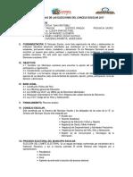 Plan de Trabajo de Las Elecciones Del Concejo Escolar 2017