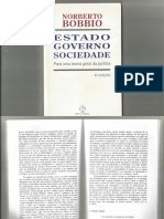 Bobbio -- Estado e Direito -- Estado, Governo, Sociedade