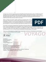 Voyago Inc. Thank You Letter