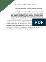 Modele matriciale de analiză a poziţiei competitive a firmelor