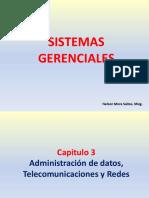 Capítulo 3 (1P) - Administración de Datos, Telecomunicaciones y Redes