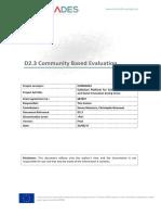D2.3 Community Based Evaluation