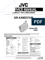 JVC Gr-Axm237 Service Manual, Repair Schematics, Online Download