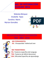 Presentacion Pie 1º Sem.2016