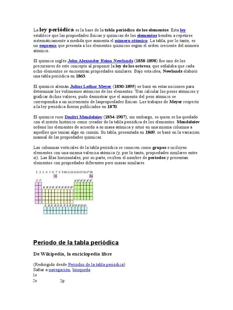 La ley peridica es la base de la tabla peridica de los elementos urtaz Choice Image