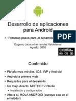 Desarrollo de aplicaciones para Android - 1