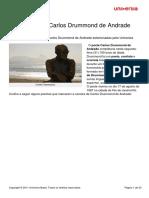 20 Poemas Carlos Drummond Andrade Poemas de Carlos Drummond de Andrade a Um Ausente