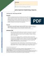 Dementia and Cognitive Impairment Epidemiology, Diagnosis, And Treatment