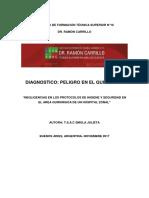Diagnostico Peligro en El Quirofano 1