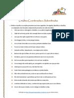 Orações Coordenadas e Subordinadas - Exercícios IV (Blog9 15-16)