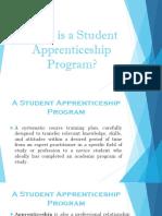 A Student Apprenticeship Program