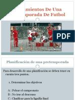 Lineamientos de Una Pretemporada de Futbol