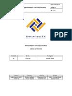 OPER PR 034 Proced Bateas en Concreto Rev 01