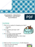 diapering dressing feeding and baby