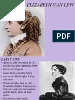 Elizabeth Van Lew - Prezentacija na engleskom
