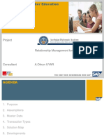 SAP CRM  for Higher Education Business Blueprint