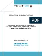 Diagnóstico Prevención de La Violencia, Cobán Alta Verapaz