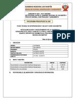 Ficha de Intervención con Maquinarias C.P.M. Alfonso Ugarte-Qda Apangurayacu