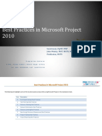 Best Practises in MS Project 2010-ProVentures
