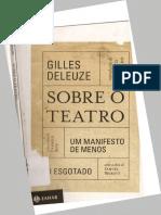 Deleuze Gilles Sobre o Teatro