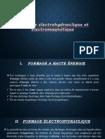 Formage Électrohydraulique Et Électromagnétique