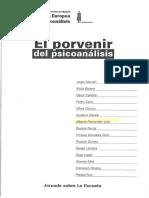 Fernandez Liria Et Al (1996) La Extensión Del Psicoanálisis. Hipótesis Para Una Política