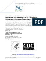 Prevention of Catheter Associated Urinary Tract Infections